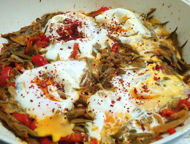 Πολίτικη Κουζίνα Αλίντα Κανάκη: Φασολάκια με αυγά