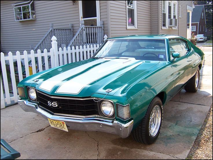 1972 Chevelle This was my car except yellow with black stripes. 402 big block.