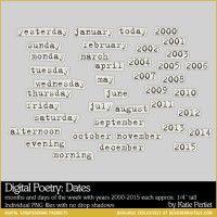 Digital Poetry: Dates