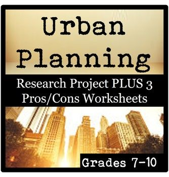 Your 7th-10th grade environmental science or geography students will research the urban planning of a city of their choice. They will also consider environmental threats associated with their city, and devise solutions the city could employ to reduce these threats.