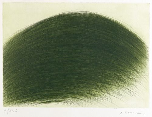 "Arnulf Rainer ""Grüner Berg"" 1971 colour etching"