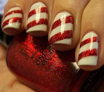 Hot Holiday Nail Ideas - Candy cane