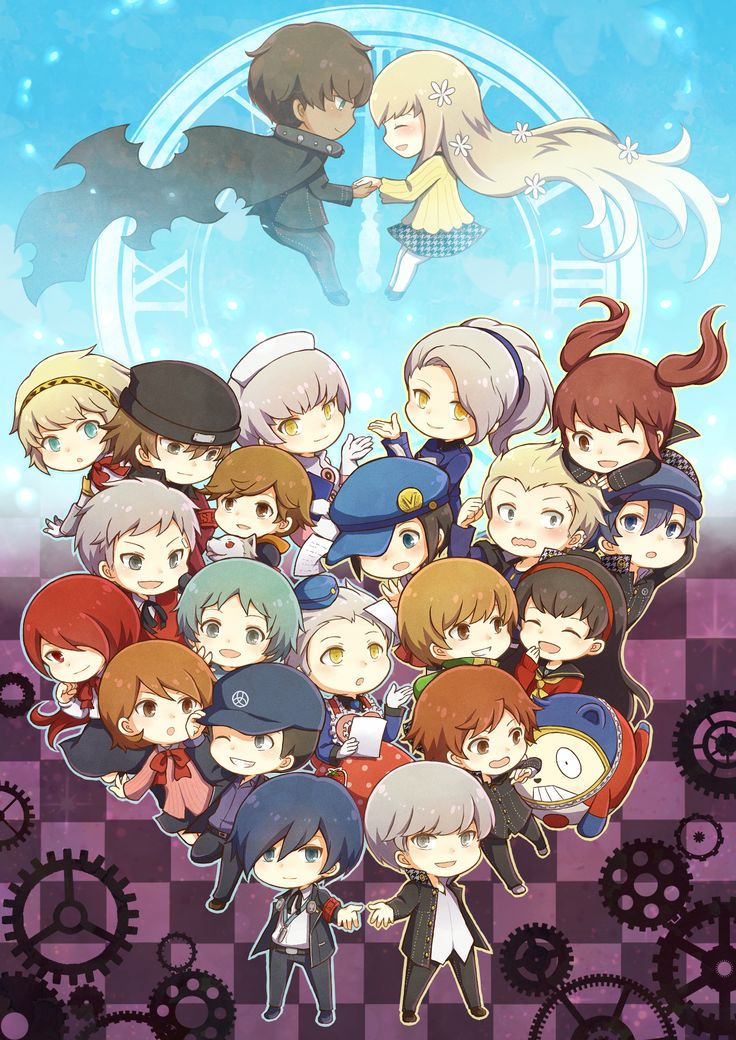Persona 3 and 4 group(Persona Q) Omg Rei and Zen are so canon I can't even...THEY ARE SO CUTE TOGETHER!!!