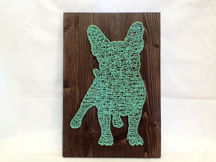 String Art French Bulldog Turquoise Wall Art And Home by OneRoots
