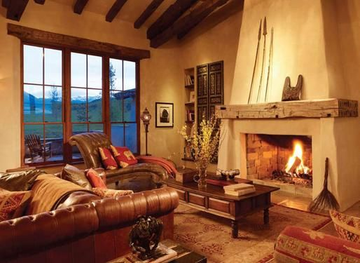 King Ranch Home Furnishings Peppering The Home With Exotic Textures And Colors The Owner