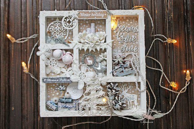 Скрапля: Снежно - зимний чудо - альбом от Марины Игнатовой.