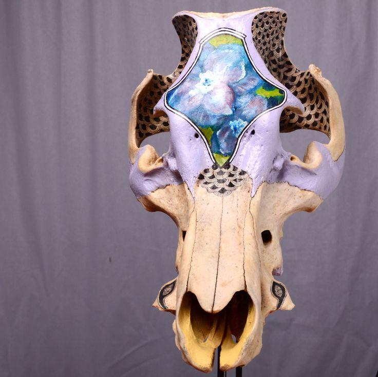 Crâne peint. http://clelia.org/