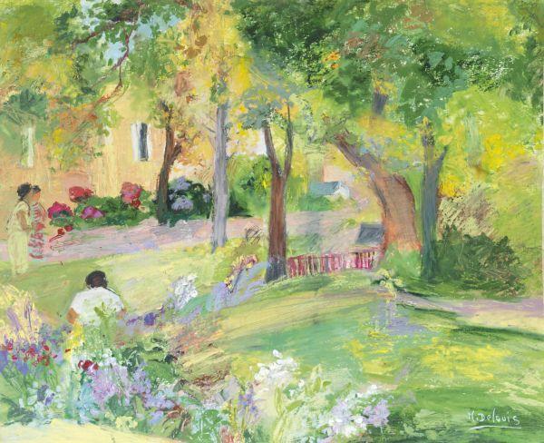 Nancy Delouis - L'Allée au Parc