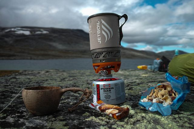 Preparing dinner with out Jetboil Sol Ti on our backpacking trip in Sarek National Park.  More about our trip on our blog: http://hikeventures.com/hiking-and-packrafting-in-sarek-day-1/