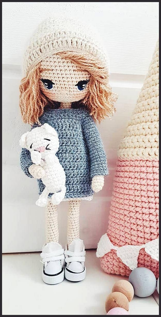 Amigurumi Cute Doll   Doll amigurumi free pattern, Crochet dolls ...   1223x624