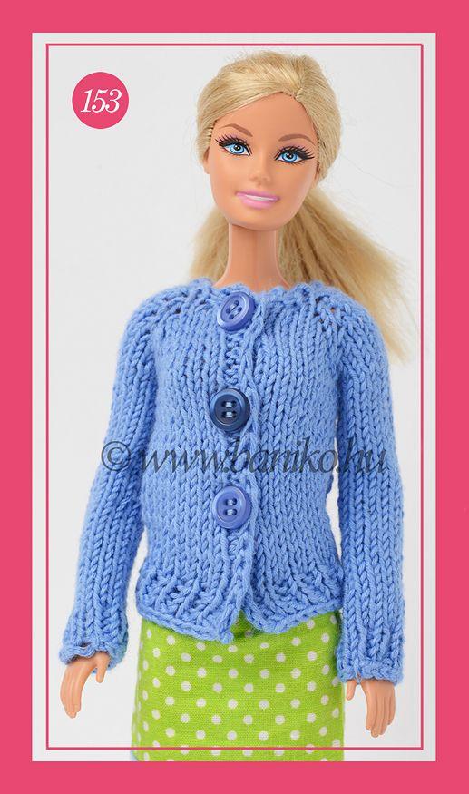 Sötétkék kötött Barbie kardigán