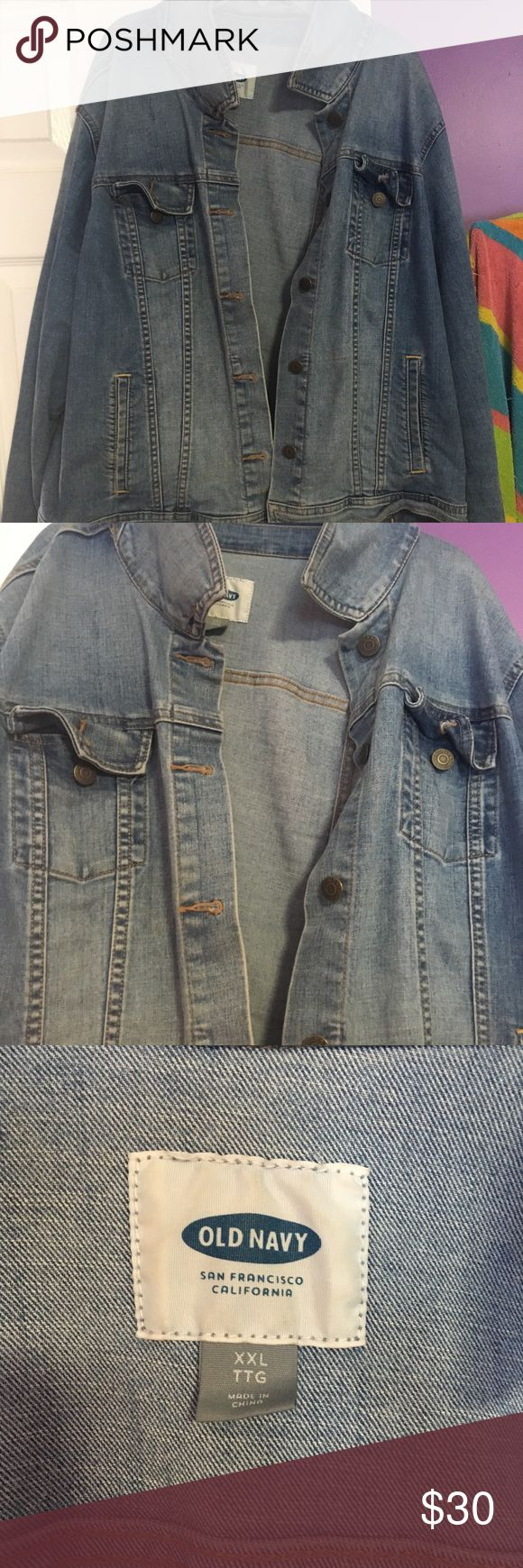 old navy jean jacket xxl worn a couple times, old navy jean jacket size xxl. super cute Old Navy Jackets & Coats Jean Jackets