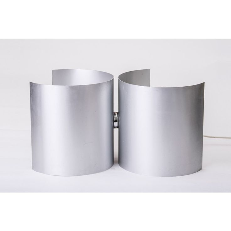 Lampada da tavolo paese Italia anni 70 colore grigio in alluminio