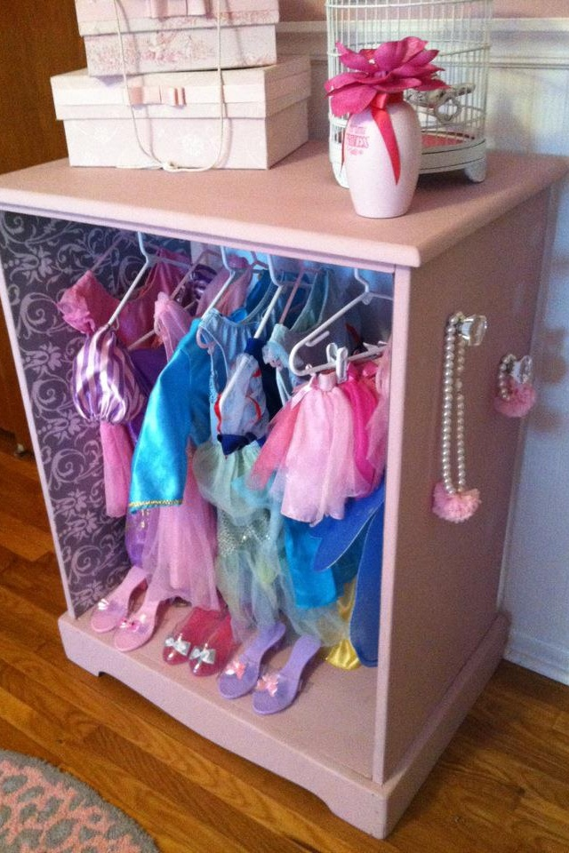 Princess Toys Box Storage Kids Girls Chest Bedroom Clothes: Adorable Dress Up Closet!