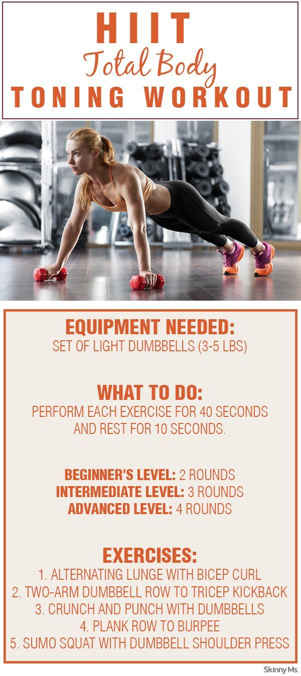 The burn and burn some serious fat with this hiit total body toning