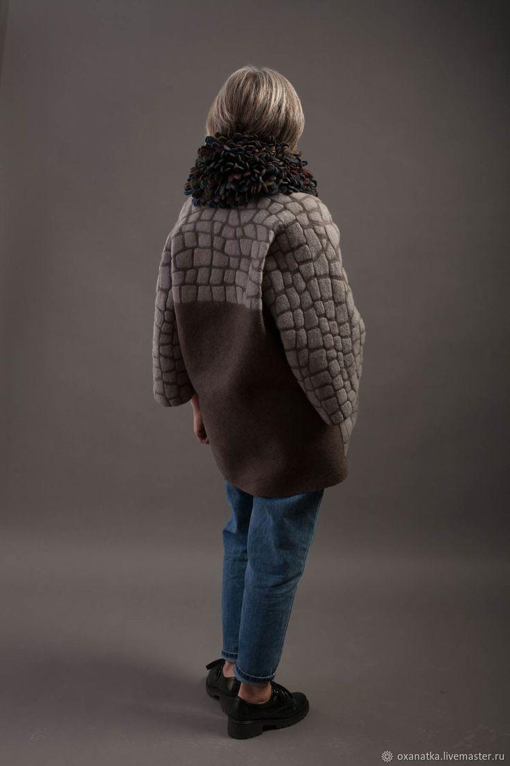 Верхняя одежда ручной работы. Заказать Жакет-кимоно из войлока Старый Город. FeltOx ( Оксана Ткаченко). Ярмарка Мастеров.