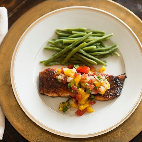 Sweet and Spicy Mexican Salmon with Mango Pico De Gallo