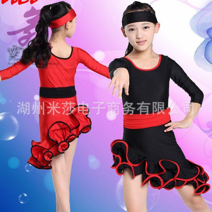 2015 новый латинский платье для девочек фламенко платья бесплатная доставка танго девушки латинской юбка девушки dancewear платья для танцев для детей