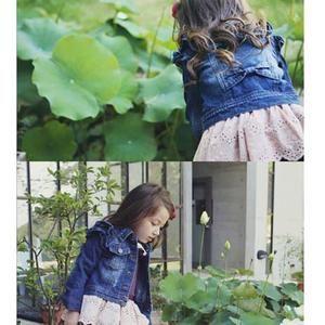 Jaket anak perempuan jeans