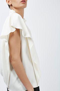 Draped Shoulder Top by Boutique