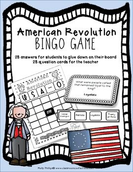 Revolutionary War ~ American Revolution BINGO Game