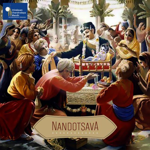 #Nandotsava, was a huge ceremony conducted by Nanda Maharaja after #Janmashtami .