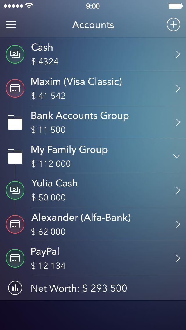 Iphone accounts #UI