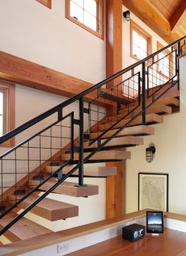 Thistle Hill Farm - farmhouse - staircase - milwaukee - Northworks  Architects and Planners. What about clerestory windows in the wall behind  our new ...