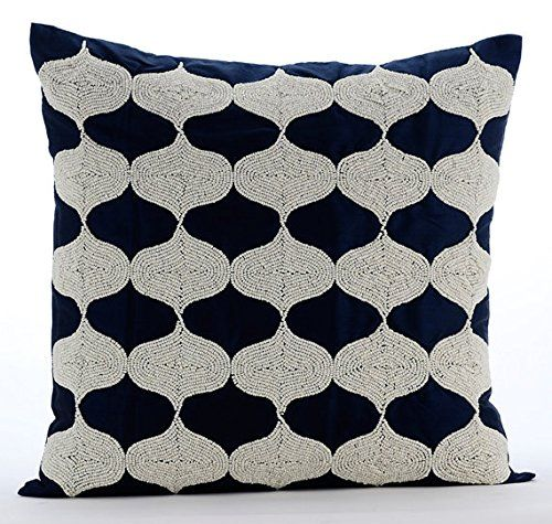 Handmade Navy Blue Pillow Covers, Beaded Lattice Trellis ... https://www.amazon.com/dp/B016H8WV6O/ref=cm_sw_r_pi_dp_x_CQF-yb9HEEKHC
