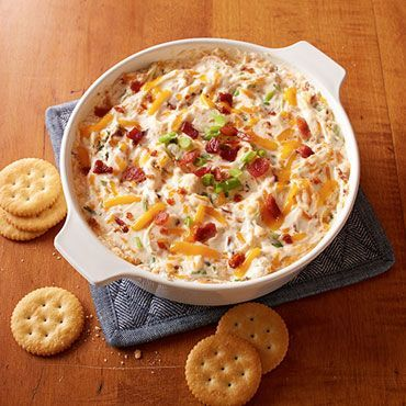 Thank goodness for amazingly easy apps! Check out this Warm & Cheesy Bacon Dip recipe!