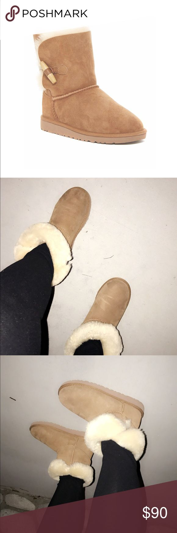 Short Uggs In perfect condition worn them three times Polly ! These are kids size 5 which is equal to women size 7 ! Perfect condition does come with the box and everything to proof it's Authentic ! Got it from the Ugg store in Glendale Ca ! Open to offers no trade please ! UGG Shoes Winter & Rain Boots