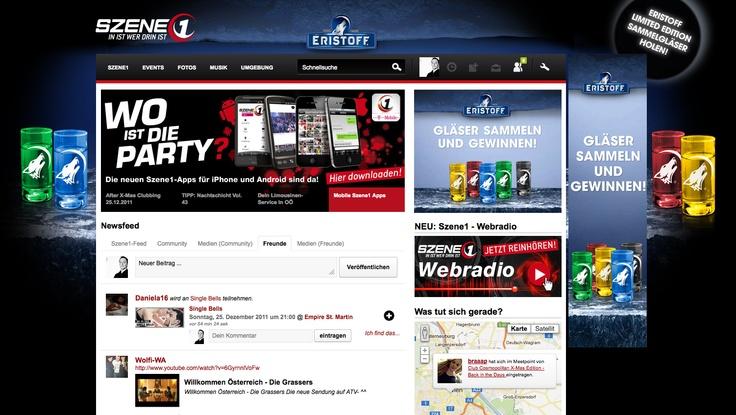 Eristoff - Sitebranding auf Szene1.at