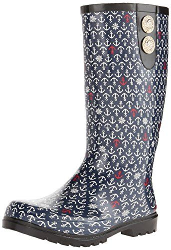 Nomad Footwear Women's Puddles II Rain Boot, Navy Anchors, 8 M US Nomad http://smile.amazon.com/dp/B00OPFXYJK/ref=cm_sw_r_pi_dp_RC65vb1XRDZBF