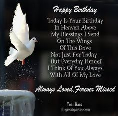 Birthday in Heaven Greeting | Happy-Birthday-..-Today-Is-Your-Birthday-In-Heaven-Above.-My-Blessings ...