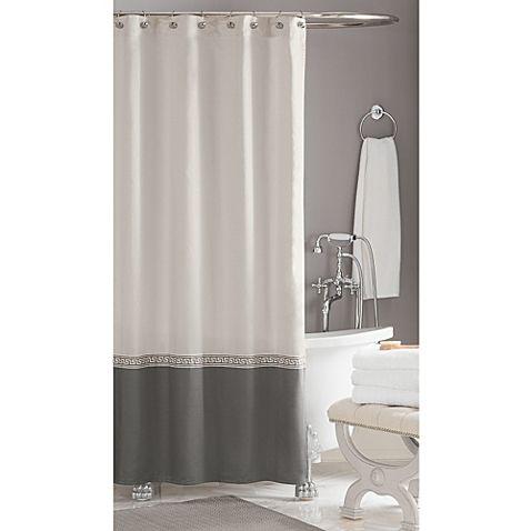 Classic Wamsutta Greek Key Hotel Shower Curtain Hummi Boys 39 Bath Pinterest Hotel Shower