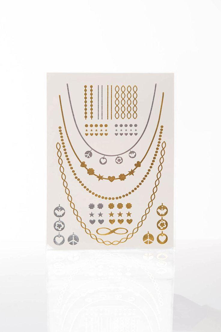 Tatuaj Metalic Magical Gold. Tatuaj metalic temporar, in diverse culori, usor de aplicat.