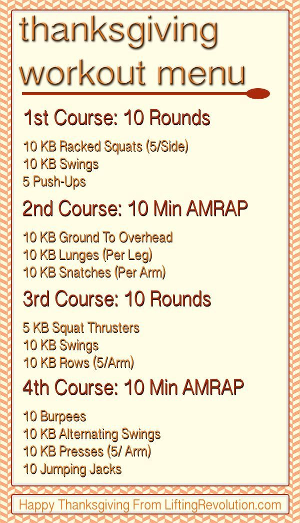 The 4-Course Kettlebell Pre Thanksgiving Workout Challenge