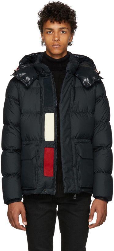 33550dc9f Moncler - Navy Down Glacier Jacket