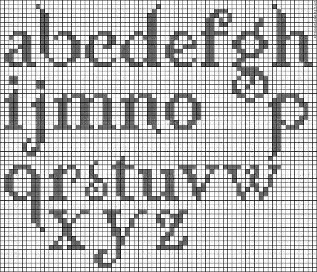cross stitch alphabet (twilight, but still pretty--needs upper-case)