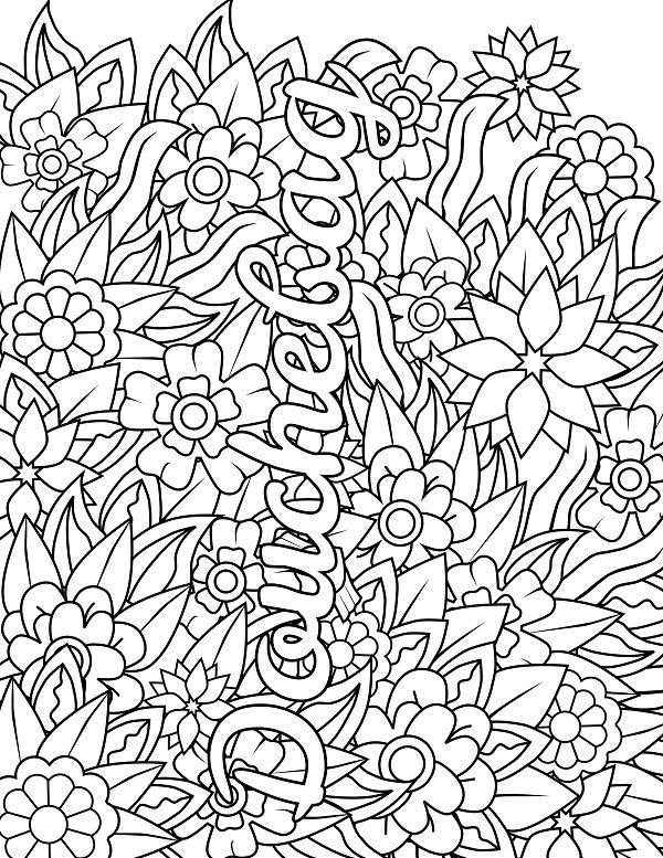 Flower Adult Coloring Page Swear 14 Free Printable Coloring