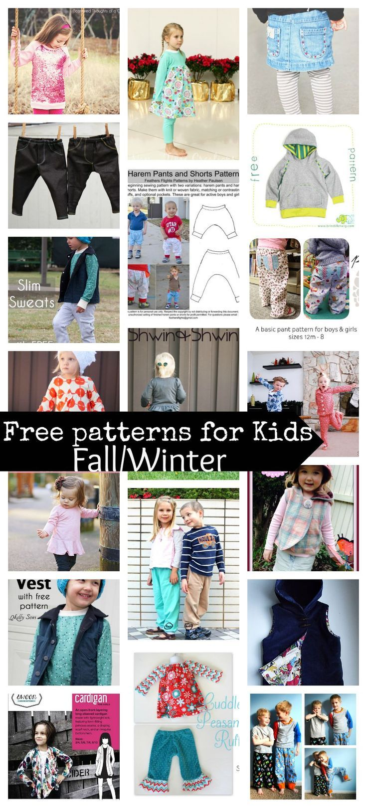 2713 best sewing images on pinterest sewing sewing projects and 20 free sewing patterns for kids fallwinter sew up all kinds of wonderful jeuxipadfo Images