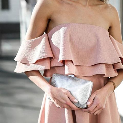 Looking forward ; @olgabergclutches features our Two Fold Mini Dress / #comingsoon / #keepsakethelabel #ruffle #detail