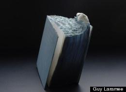 Guy Laramee ArtistBooks Covers, Vintage Books, Books Carvings, Books Sculpture, Book Sculpture, Books Art, Ocean Waves, Guys Larame, Altered Books