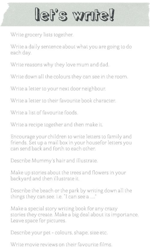 creative writing exercises daily Creative writing activities for kids - get you child writing and thinking with these   a great way to get your kids writing is to make use of your daily newspaper.