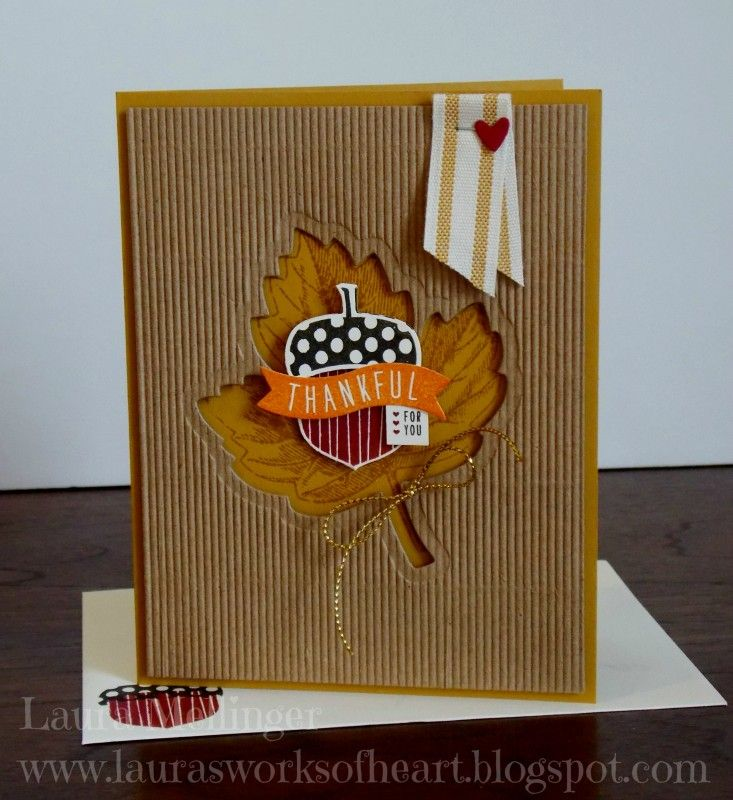 ACORNY THANK YOU LEAFLET CARD by happystamper09