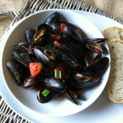 Mussels with Smoked Spanish Paprika by acedarspoon
