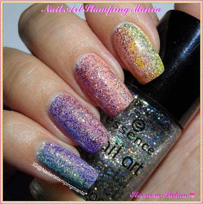 Nail Art Stamping Mania: Gradient Manicure With Sheer Polishes and UberChic Beauty Plate