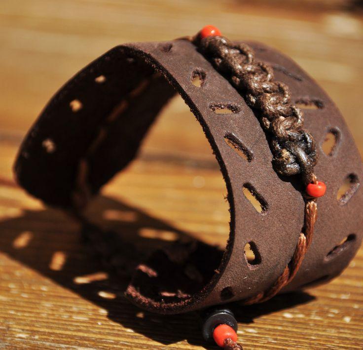 039 Bracciale a fascia in pelle marrone di AlePiller su Etsy