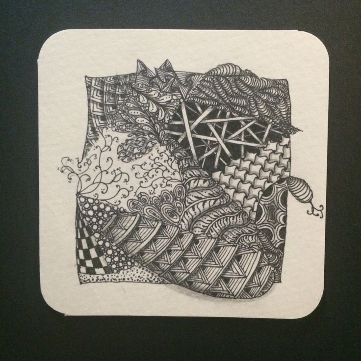 Zentangle inspired art by Amber- the first tangle!