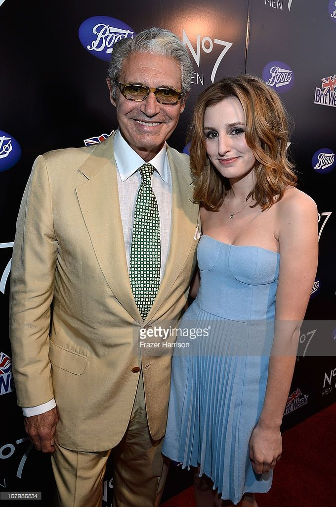 Actor Michael Nouri and Laura Carmichael attend the Boots Not Men Launch at Britweek 2013 at The Fairmont Miramar Hotel on May 3, 2013 in Santa Monica, California.